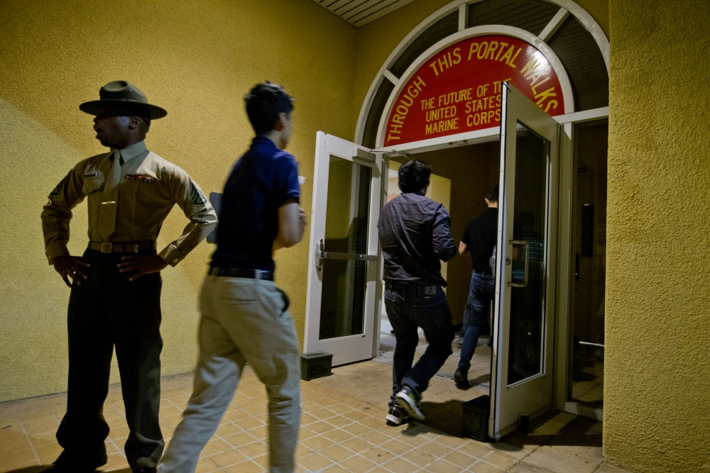 Marine Corps Recruit Depot, San Diego New Recruits With Delta Company, 1st  Recruit Training Battalion, Make Their Way To The Contraband Room During ...